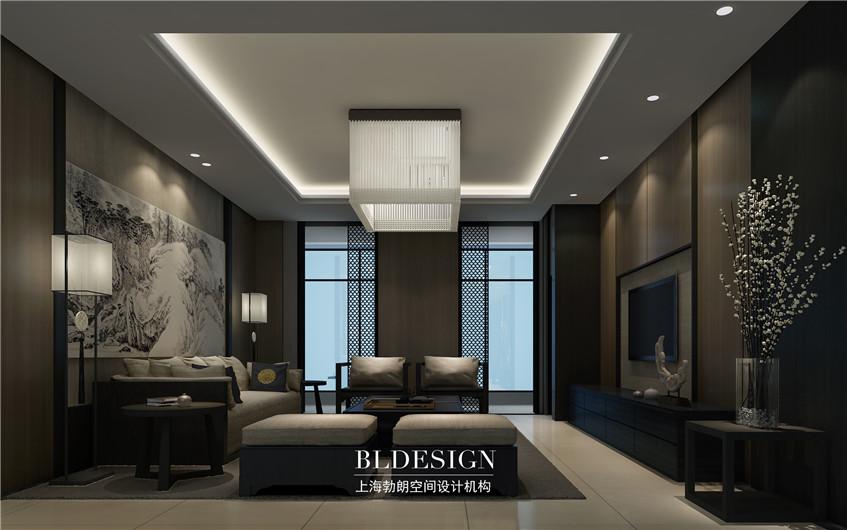 周氏雅居·简约中式豪宅设计-豪宅客厅