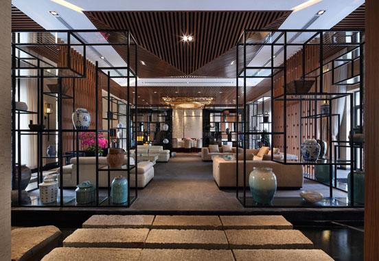 中式高级私人会所设计-商务会所设计-上海