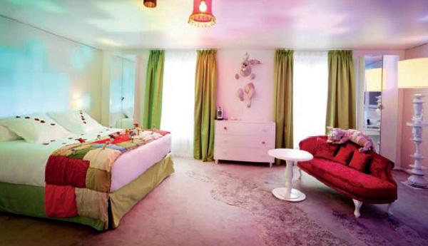 国外梦幻情侣主题酒店设计 法国巴黎7酒店