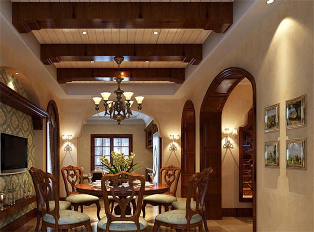 文化导读:本案是一幢独栋别墅,空间感十足。业主及其喜欢美式的装修风格,正如美式风格的特质,在古典中带有一点随意,既简洁明快又温暖舒适。别墅设计公司对整个设计做了新的调整,最大程度上满足了业主的使用居住要求,提高其居住的舒适度。  地下室也被设计师充分利用,书房、棋牌室、影视厅和吧台的配备丰富满足了娱乐空间,方便主人招待来访客人,同时不影响生活区的照常使用。
