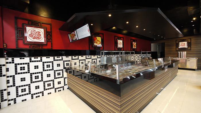 郑州专业餐厅设计公司分享很有特色的中式快餐店设计案例图片