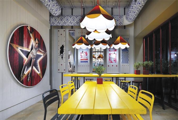 国外特色餐厅设计案例 马戏团主题快餐厅设计说明