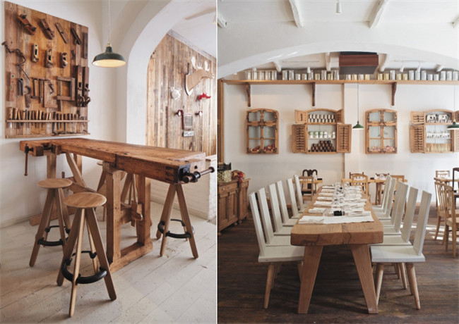 传统与现代风格相结合的特色美食餐厅装修设计效果图