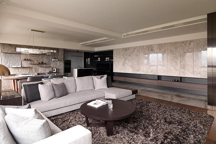 现代风格开放式别墅客厅设计