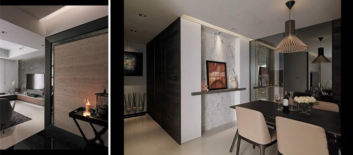 黑白灰质感现代风格别墅设计效果图