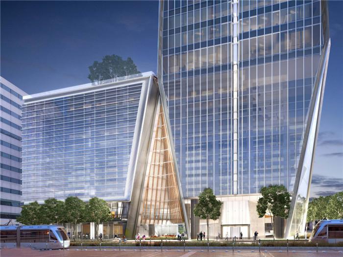 文章导读:德克萨斯主街609号办公楼。这个41层高的甲级写字楼独特的造型塑造了休士顿的城市天际线,为中央商务区注入了生命力。下面,就同郑州办公室设计公司勃朗设计的小编一起欣赏这座办公楼设计效果图吧!   办公楼外观造型很帅独特,就像一道树立在空中的一道白光,闪闪发亮,很是引人注目。