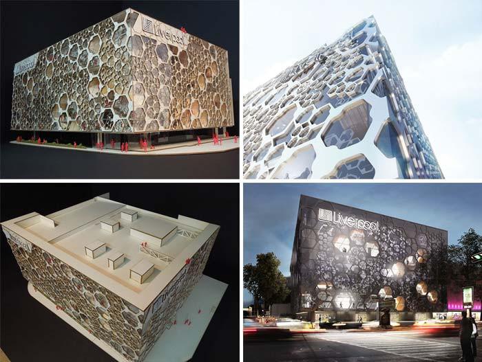 国外创意百货商场建筑外观设计 异常醒目的动态店面设计效果