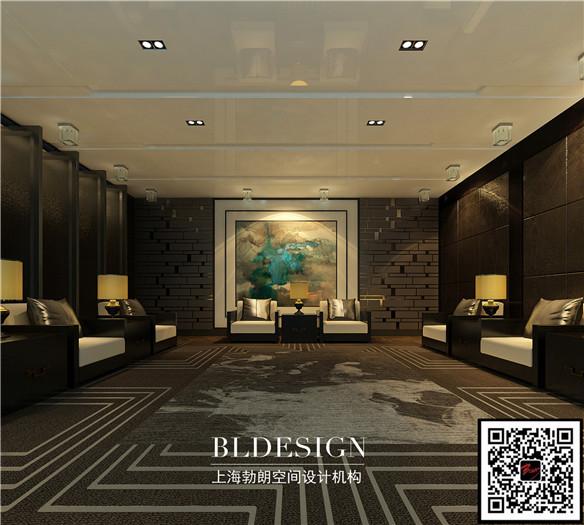 尚东中式高档商务会所vip接待室设计方案
