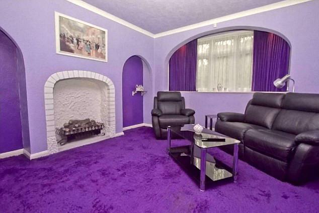 梦幻优雅的紫色调庭院式别墅设计效果图赏析