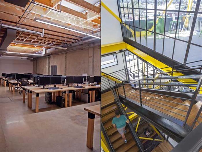 文章导读:这是特效工作室Framestore位于美国洛杉矶的总部办公室,作为欧洲最大的视觉特效与电脑动画工作室,其办公室当然也极具特色。今天,BLD勃朗设计小编与您分享的就是这个极具科幻工业质感的特色办公室设计案例。   这座纺织厂曾经是航空领域防火面料的专业生产厂家,工厂的构造因此有其独特的结构特征。室内一座50英尺高的塔楼空间原是用以悬挂晾干长长的特种布料,如今经过空间改良设计,形成本案最具特色的功能空间。   室内保留建筑原有工业化的特征,曾经的记忆在这里弥漫;设计团队还加入一些如今已废弃不用的旧时