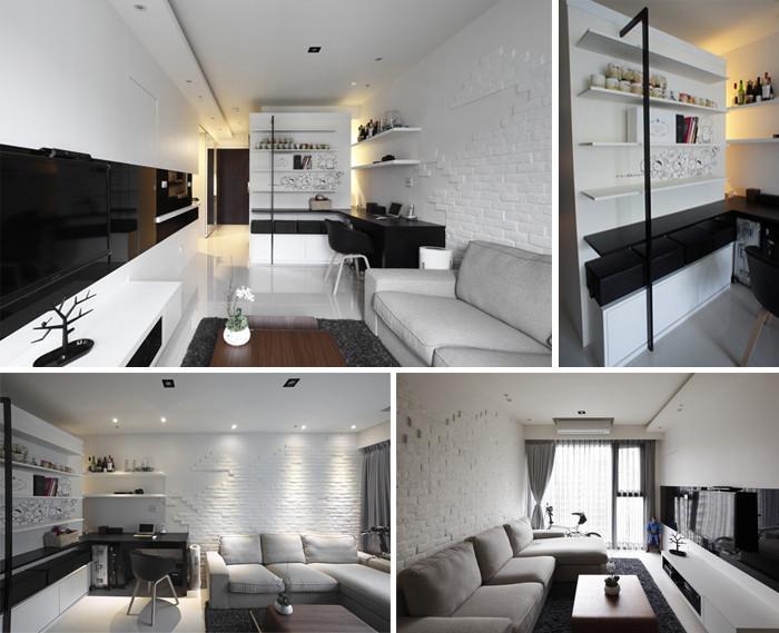 经典黑白摩登时尚家居设计案例