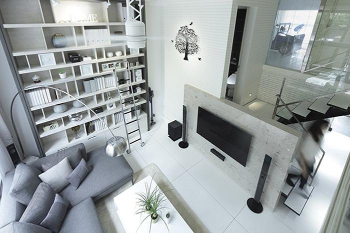 loft复式别墅客厅设计效果图