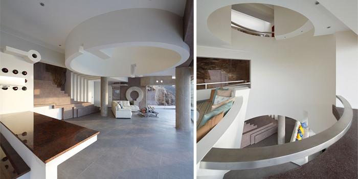 半开放式别墅客厅设计效果图