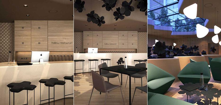 文章导读:托马斯斯库斯,当我观察当代餐厅设计的动态时,明显察觉到现代主义对于餐饮行业设计师的影响。然而我注意到有的餐厅含后现代的意味,有的设计果断打破了现代主义的条框。设计形式绝不止是迎合功能性。这些设计,寻求本身的视觉多样性,这在20世纪简洁干练的技术设计中早已缺失。 设计师在创造视觉刺激上采取两种截然不同的手法。一些设计以其设计魅力傲然而立,设计师从一些影响深远的解析主义设计师身上提取灵感,使用富含现代主义意味的材科,创造出一些挑战重力和逻辑的设计。我在设计加利福尼亚州拉昆塔的Figue餐厅时就采用了