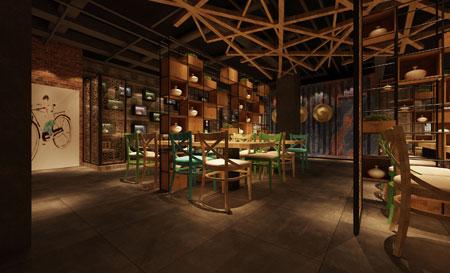 洛阳年代公社特色主题餐厅设计效果图