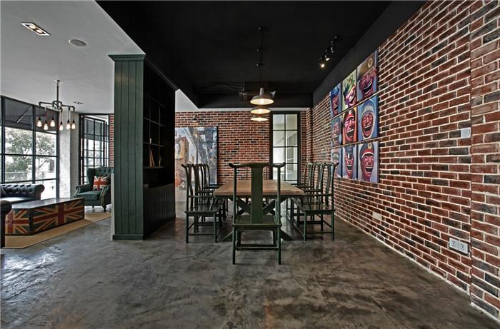 中西结合的英伦loft风创意办公室装修设计案例图片