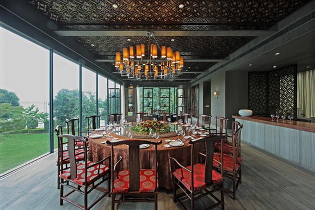 中式会所设计专家勃朗设计推荐江滨一号中式餐饮会所