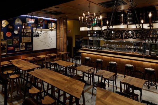 郑州专业餐厅设计公司推荐日本森贝尔复古啤酒屋设计