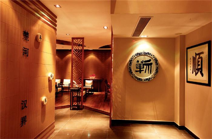 禅意中式茶楼吊顶装修效果图