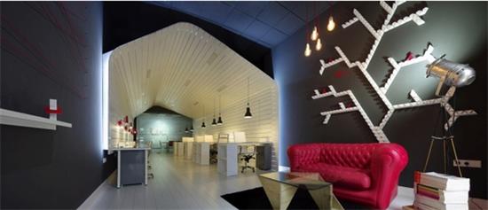 白色基调办公空间 国外小型创意办公室设计案例