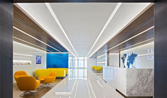 别具视觉美感的新加坡摩登时尚现代创意办公室设计