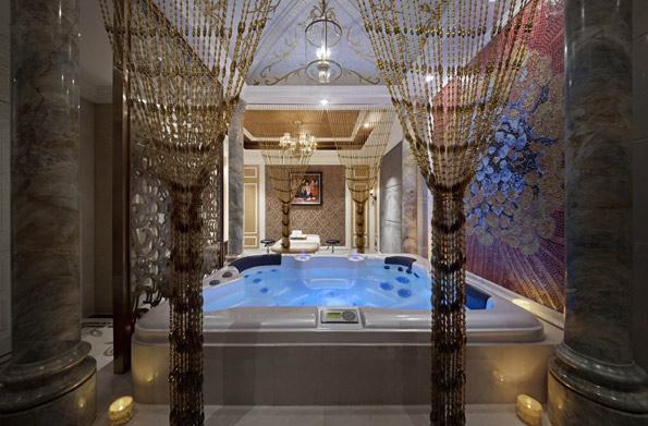 欧式温泉spa会所设计效果图图片