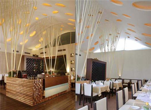 精致时尚餐厅室内设计效果图