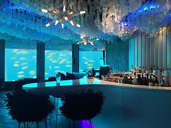 潜入如梦幻境 马尔代夫海底主题餐厅设计实景图
