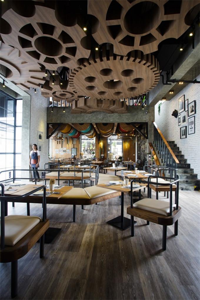 工业风格主题餐厅设计案例