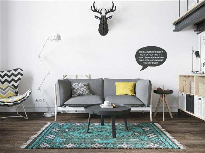 北歐風格別墅客廳設計效果圖