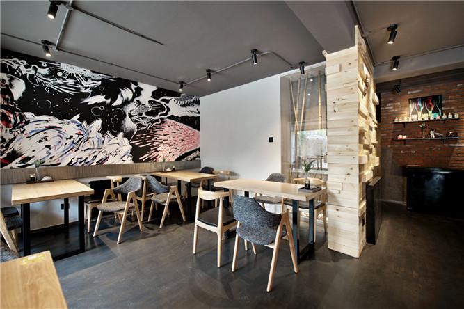 丰禾料理 复古工业风格特色日式餐厅设计案例推荐