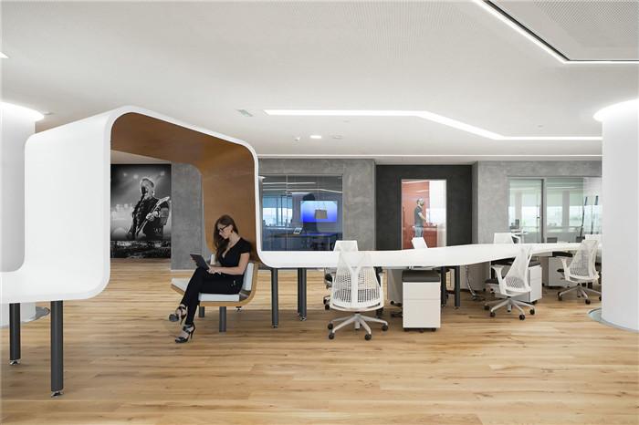 郑州办公室设计公司分享flash娱乐办公室装修设计案例