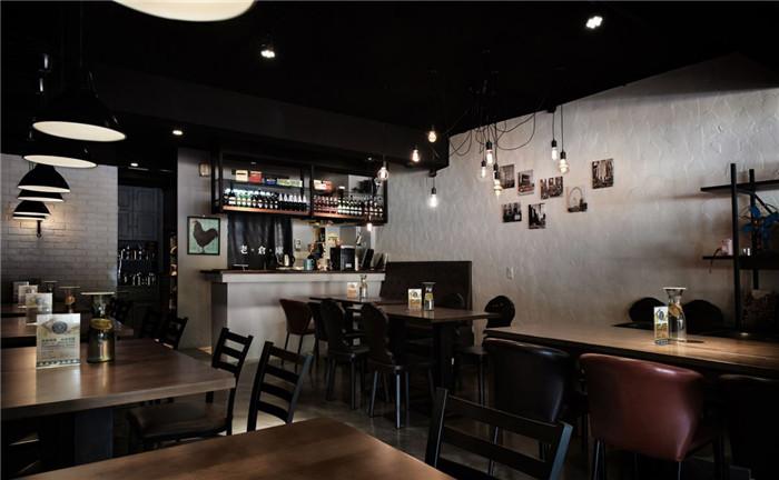 老仓库主题餐厅设计 经典loft美式复古风餐厅设计图