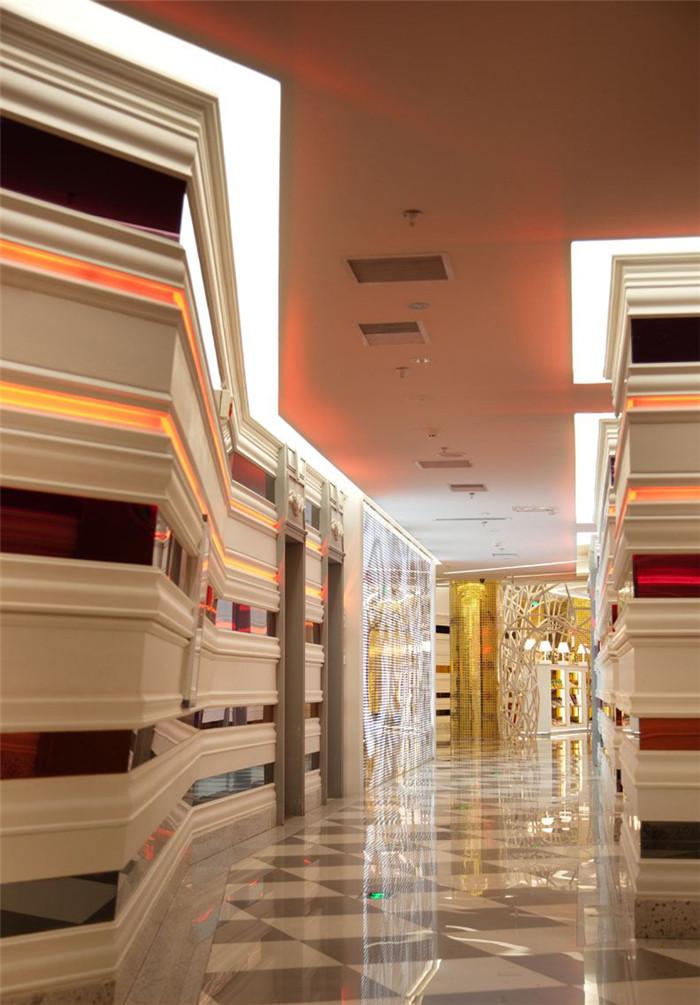 时尚主题ktv走廊设计效果图