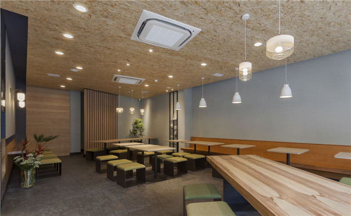 100平北欧风小型餐饮店面装修设计图