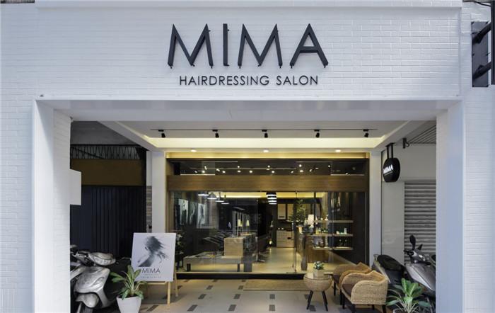 郑州专业发廊设计公司推荐极具质感的mima时尚发廊图