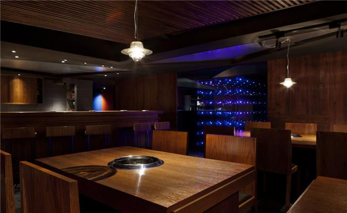 个性时尚的韩式烤肉餐厅装修设计
