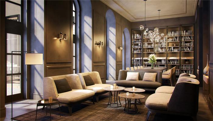 酒店室内局部空间设计实景图