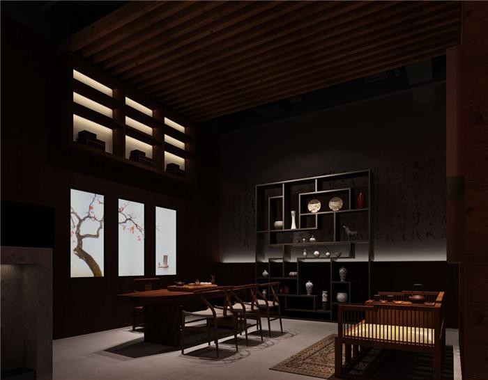 文章导读:在中国呼和皓特的一所私人会馆,占地约194坪(643平方米)的空间里,私人会所设计师以具有东方意象的元素与设计为主,呈现融合时尚与中国文化的挑高招待空间,并共分为收藏区、会客室、泡茶区、吧台、品酒雪茄区、蒙族服饰展示区、VIP包厢、书画室、教学活动展示区与会议教室。   吧台区以水泥粉光为主要建材,呈现朴实原始气息,一旁的品酒雪茄区则以简单的单色沙发与桌几展现沉稳内敛的底蕴,以龙为造型的天花板为空间增添变化感;泡茶区则以是展现中国文化精随的场域,墙面以大面书法为视觉意象,既大器又充满人文底蕴的风