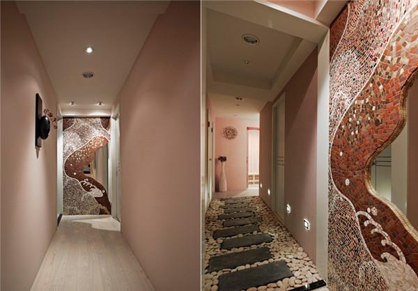 现代简约的spa会馆走廊设计图