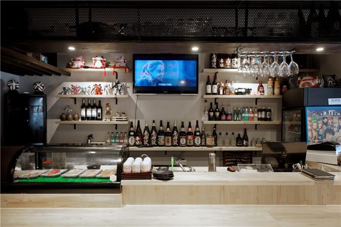 日式餐厅中岛吧台设计图