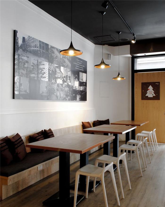餐饮店墙面手绘水墨画