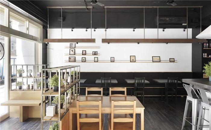 专业设计餐厅连锁分享小型房间快餐店特色装修设计效果图两室一厅图片