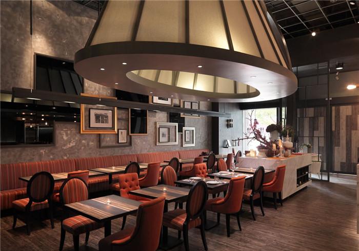 复古古典工业风西餐厅设计案例