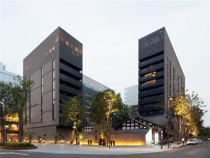 中式宾馆外观效果图