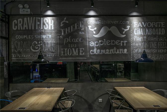美式工业风特色小龙虾主题餐厅设计效果图