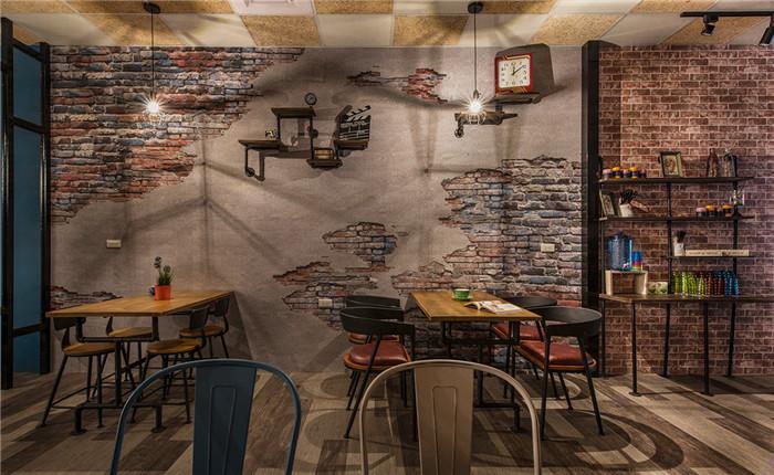 郑州工业风咖啡厅设计效果图