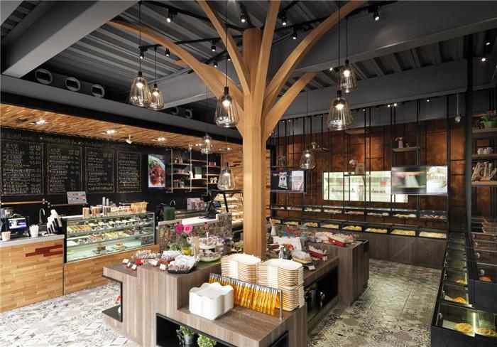 郑州专业餐厅设计公司分享工业风烘焙坊餐厅设计案例