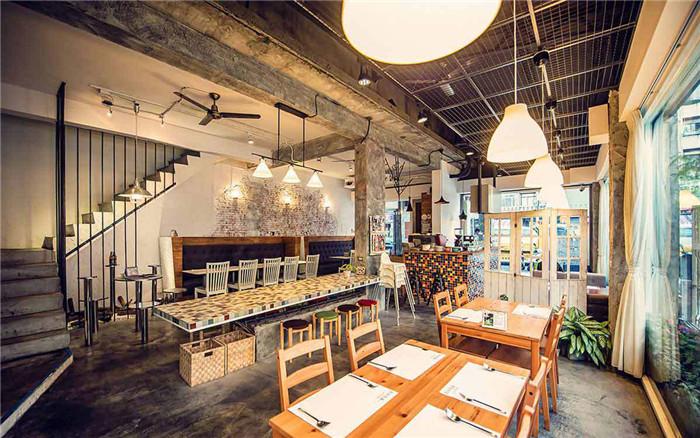 森林旁邊主題餐廳設計 工業風專業南歐料理餐廳設計效果圖