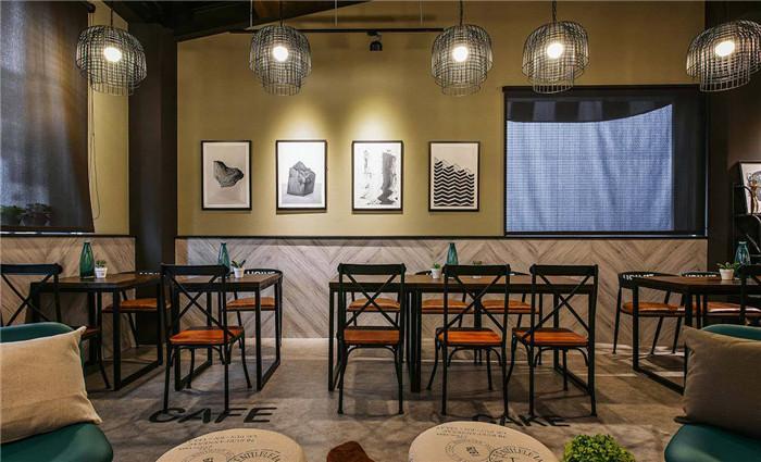 北欧风现代休闲餐厅设计 米拉贝尔欧式餐厅装修实景图